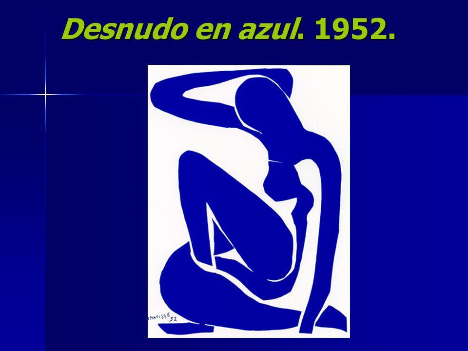 Desnudo en azul. 1952.
