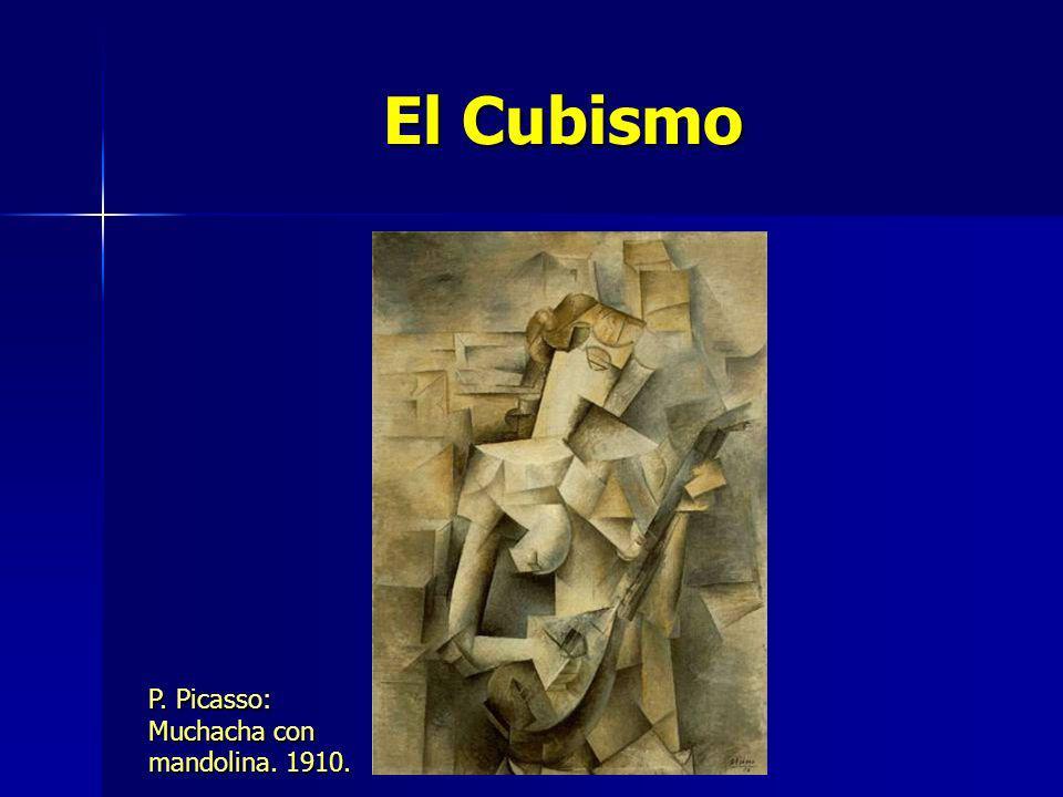El Cubismo P. Picasso: Muchacha con mandolina. 1910.