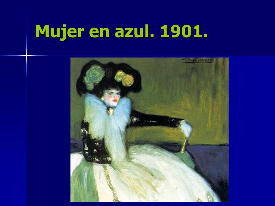 Mujer en azul. 1901.
