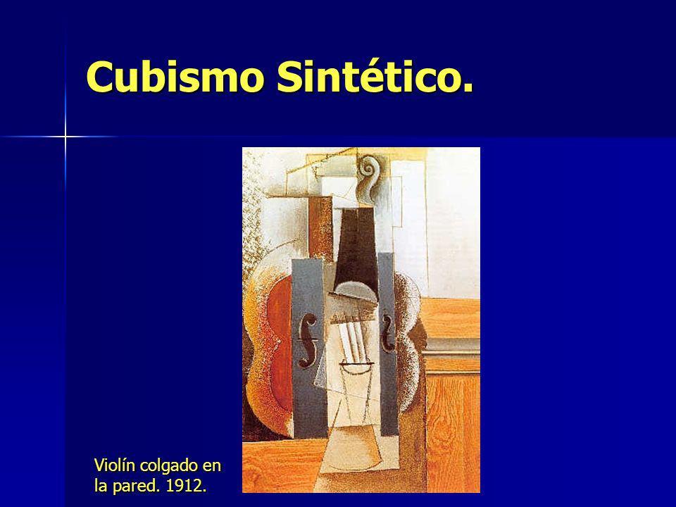 Cubismo Sintético. Violín colgado en la pared. 1912.