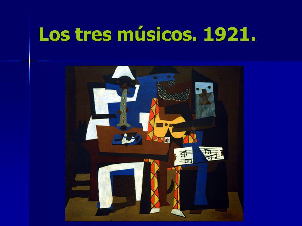 Los tres músicos. 1921.