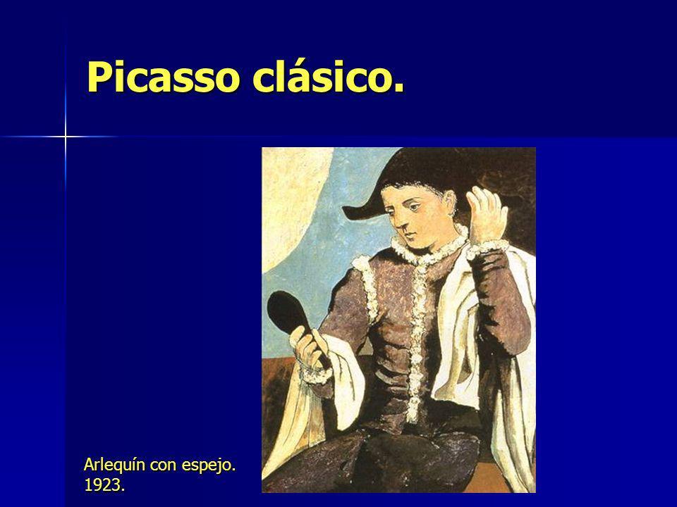 Picasso clásico. Arlequín con espejo. 1923.