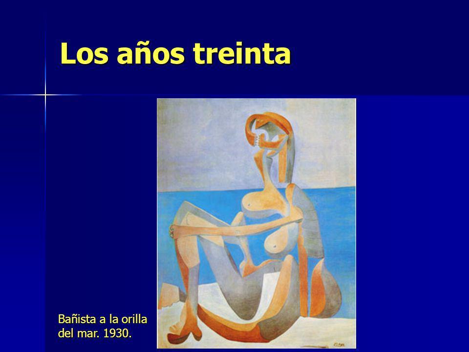 Los años treinta Bañista a la orilla del mar. 1930.