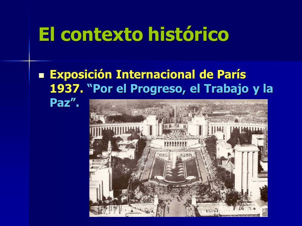 El contexto histórico Exposición Internacional de París 1937.