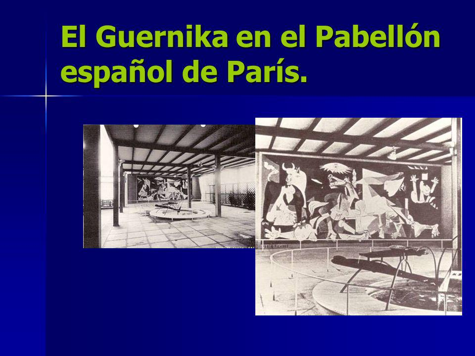 El Guernika en el Pabellón español de París.
