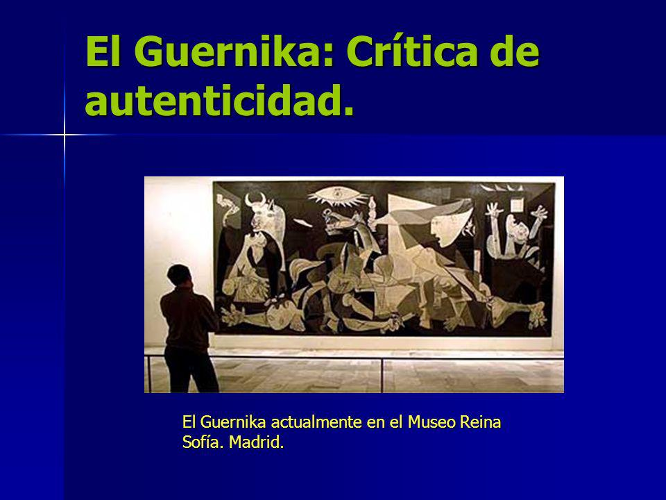 El Guernika: Crítica de autenticidad.