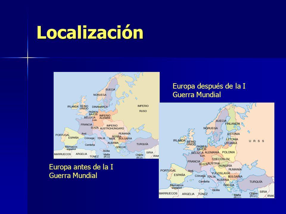 Localización Europa después de la I Guerra Mundial