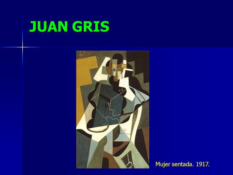 JUAN GRIS Mujer sentada. 1917.