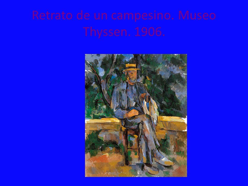 Retrato de un campesino. Museo Thyssen. 1906.