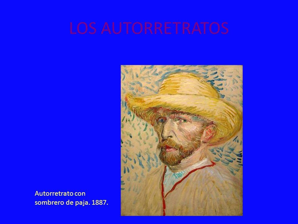 LOS AUTORRETRATOS Autorretrato con sombrero de paja. 1887.