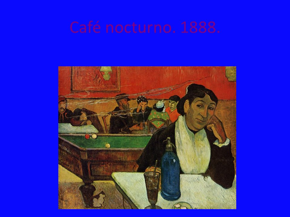 Café nocturno. 1888.