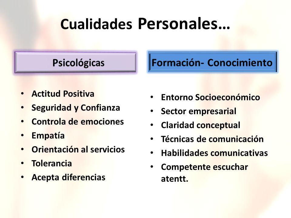 Cualidades Personales…
