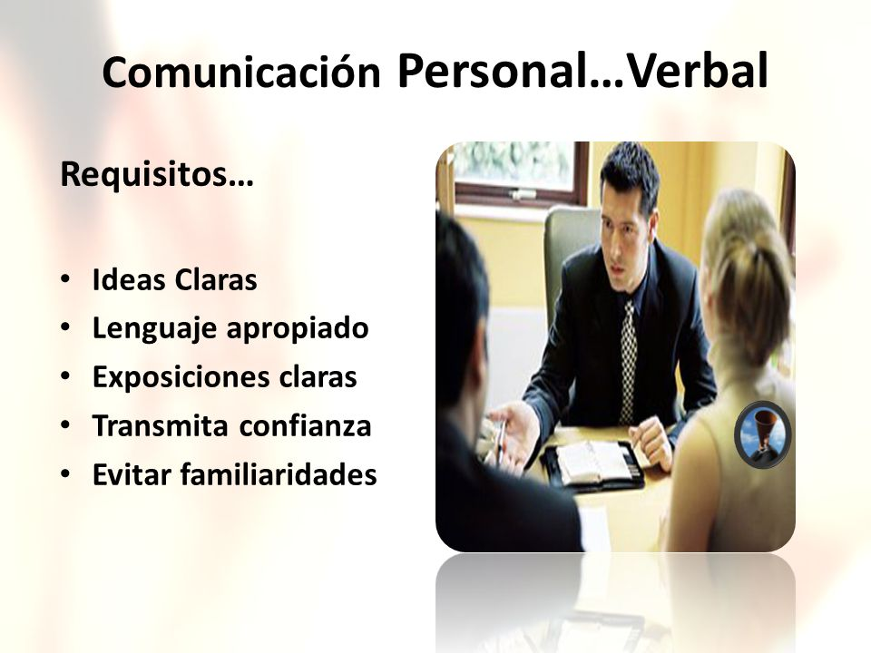 Comunicación Personal…Verbal