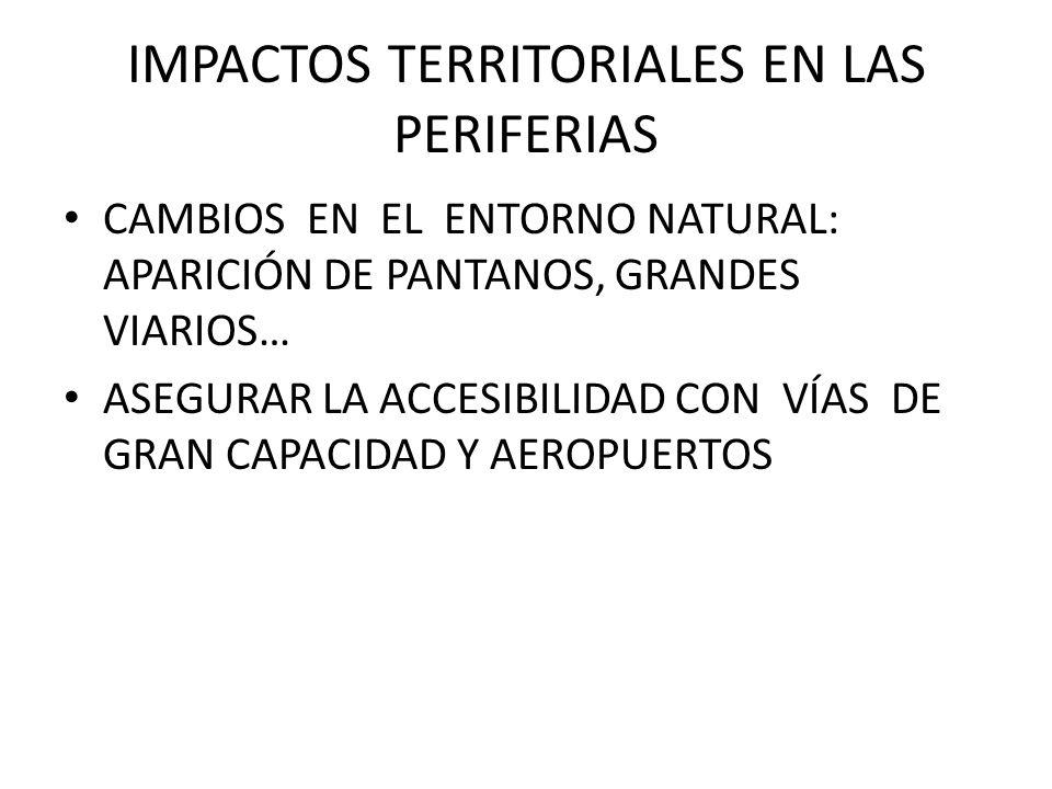 IMPACTOS TERRITORIALES EN LAS PERIFERIAS