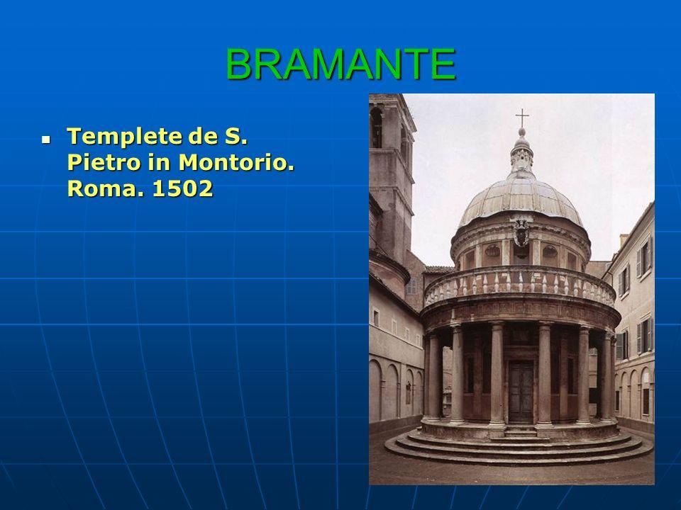 BRAMANTE Templete de S. Pietro in Montorio. Roma. 1502