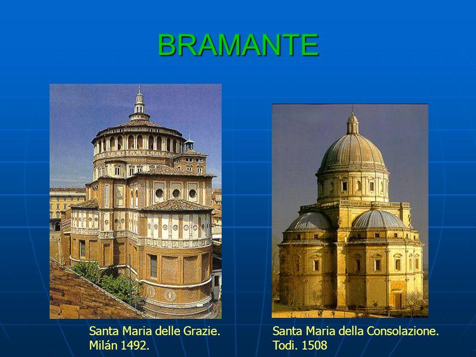 BRAMANTE Santa Maria delle Grazie. Milán 1492.
