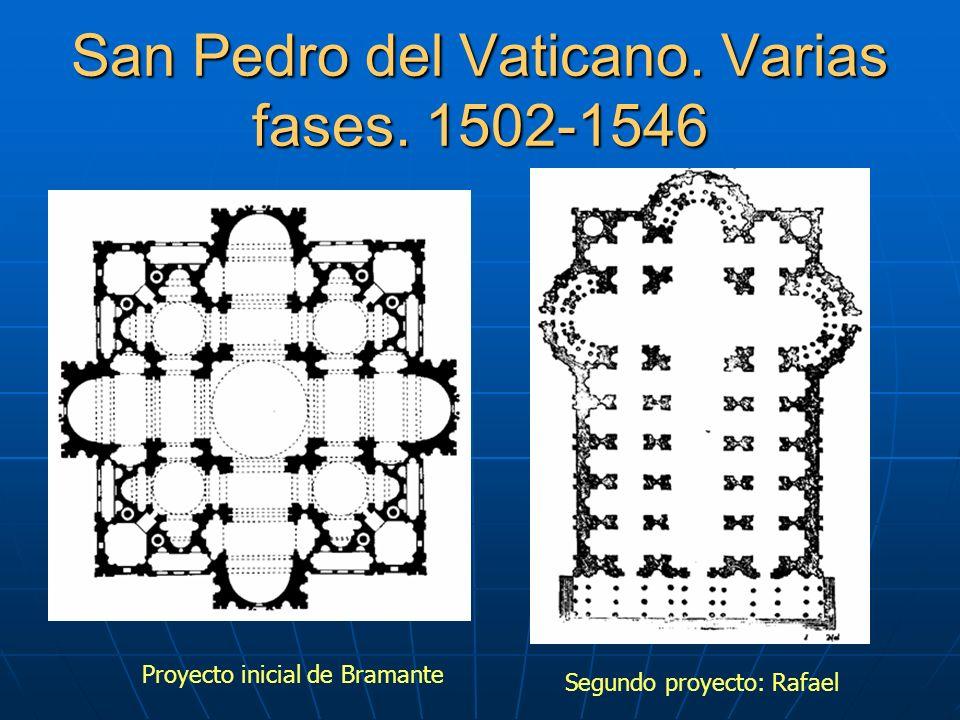 San Pedro del Vaticano. Varias fases. 1502-1546