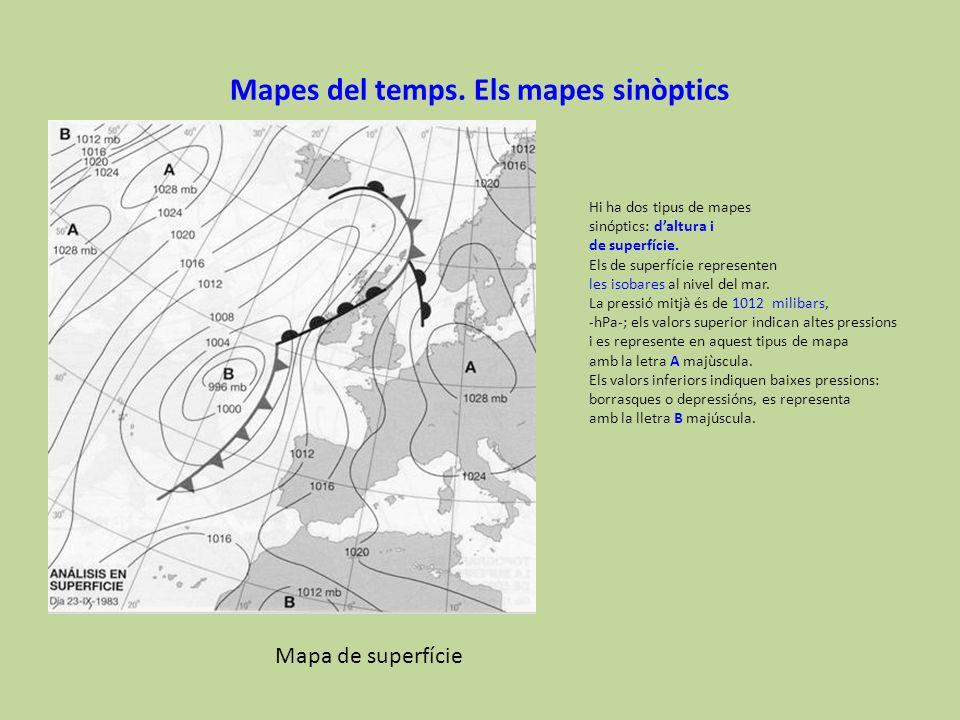 Mapes del temps. Els mapes sinòptics