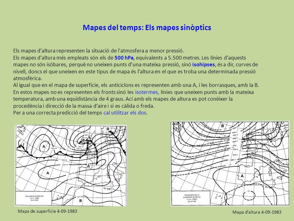 Mapes del temps: Els mapes sinòptics
