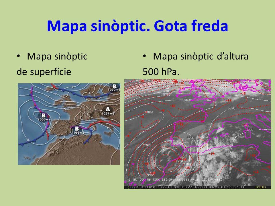 Mapa sinòptic. Gota freda