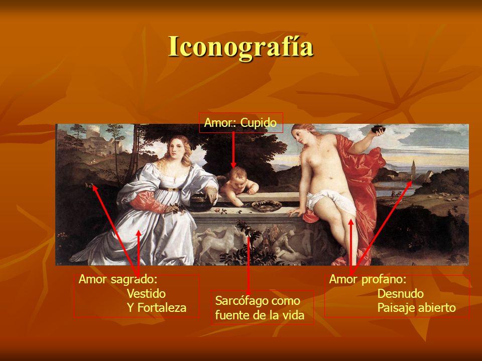 Iconografía Amor: Cupido Amor sagrado: Vestido Y Fortaleza