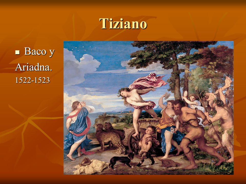 Tiziano Baco y Ariadna. 1522-1523