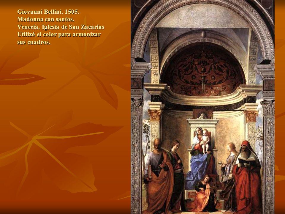 Giovanni Bellini. 1505. Madonna con santos. Venecia