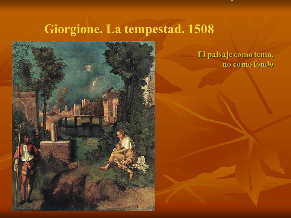 Giorgione (1478-1510). La tempestad