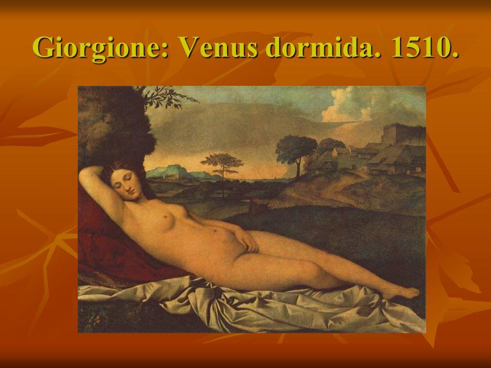 Giorgione: Venus dormida. 1510.