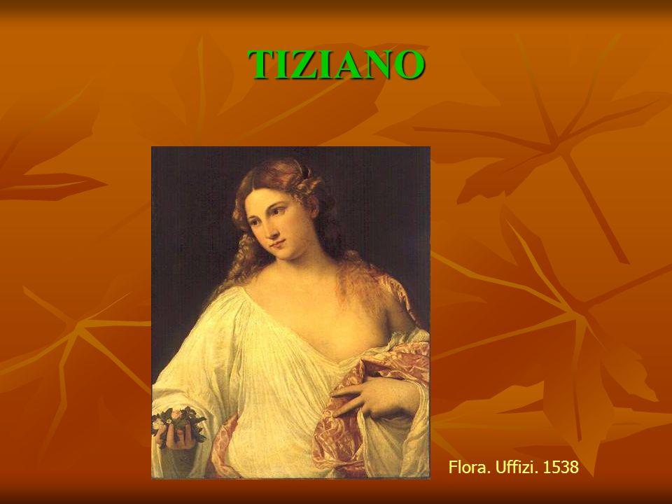 TIZIANO Flora. Uffizi. 1538