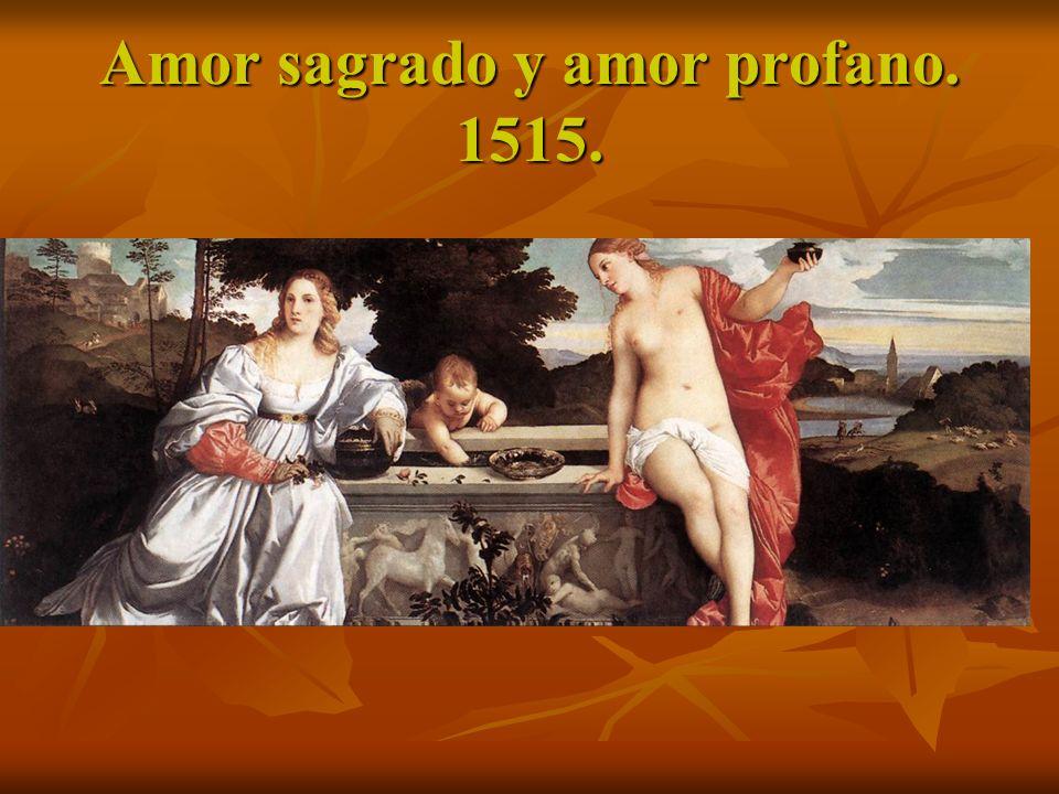 Amor sagrado y amor profano. 1515.