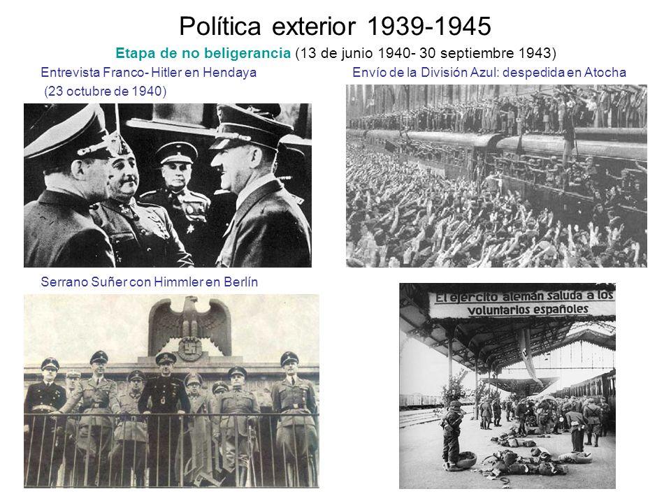 Etapa de no beligerancia (13 de junio 1940- 30 septiembre 1943)