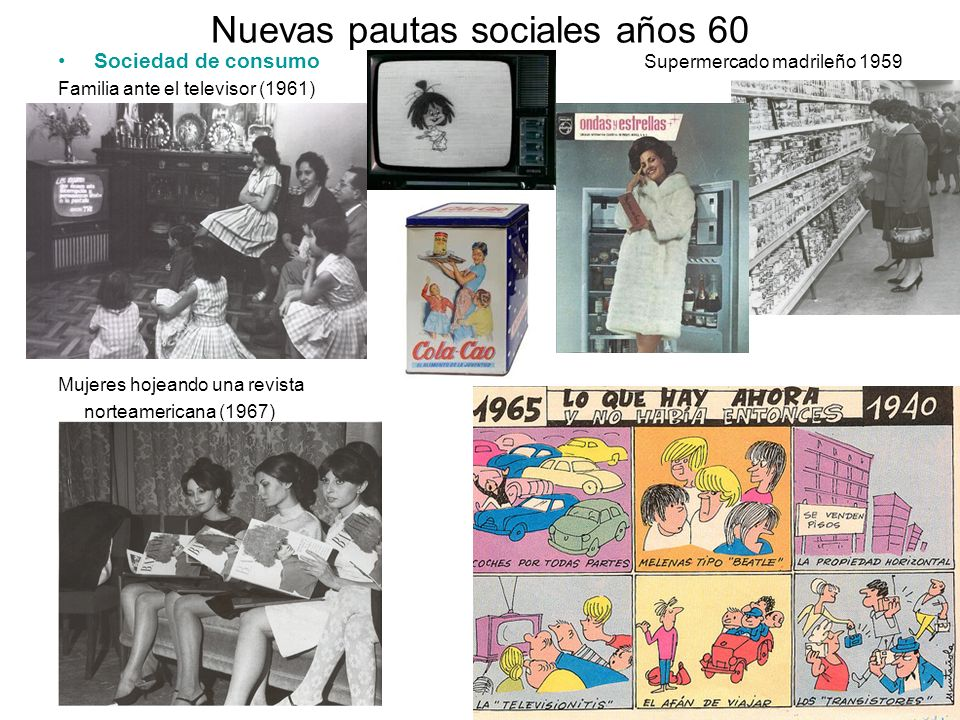 Nuevas pautas sociales años 60