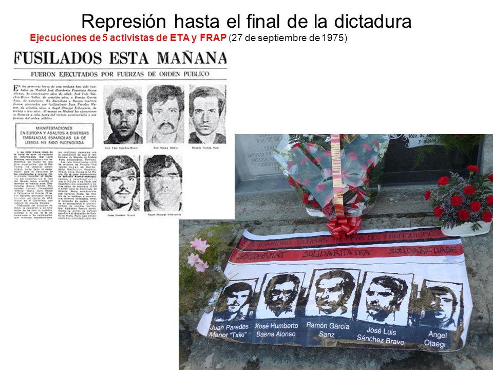 Represión hasta el final de la dictadura