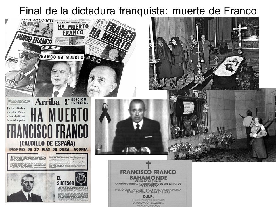 Final de la dictadura franquista: muerte de Franco