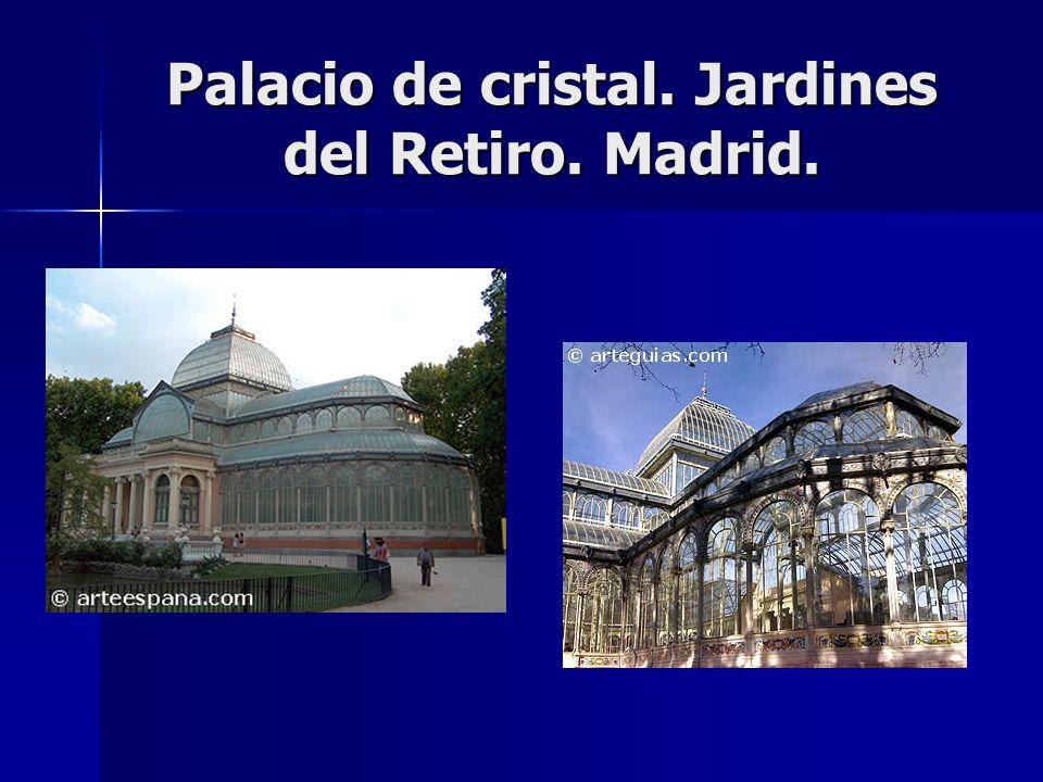 Palacio de cristal. Jardines del Retiro. Madrid.