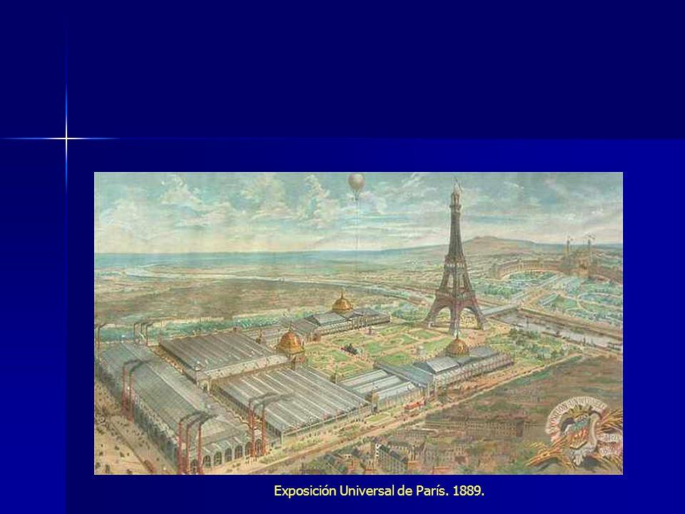 Exposición Universal de París. 1889.