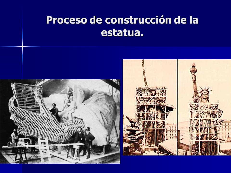 Proceso de construcción de la estatua.