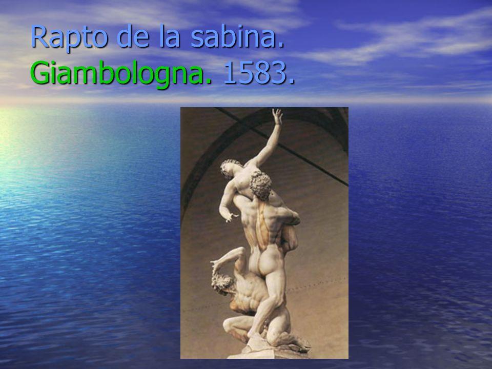 Rapto de la sabina. Giambologna. 1583.