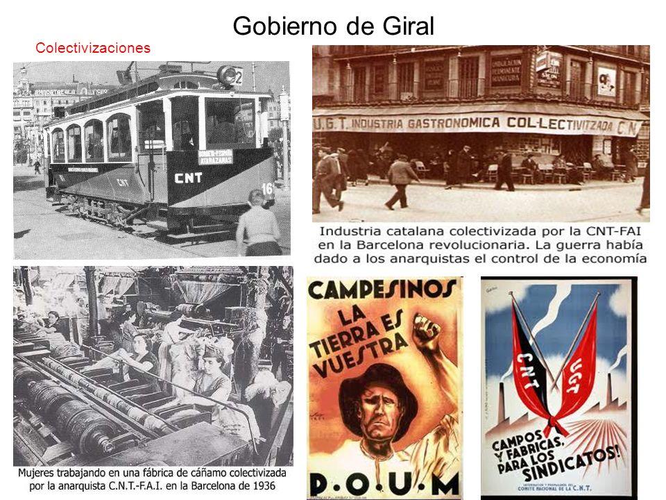 Gobierno de Giral Colectivizaciones