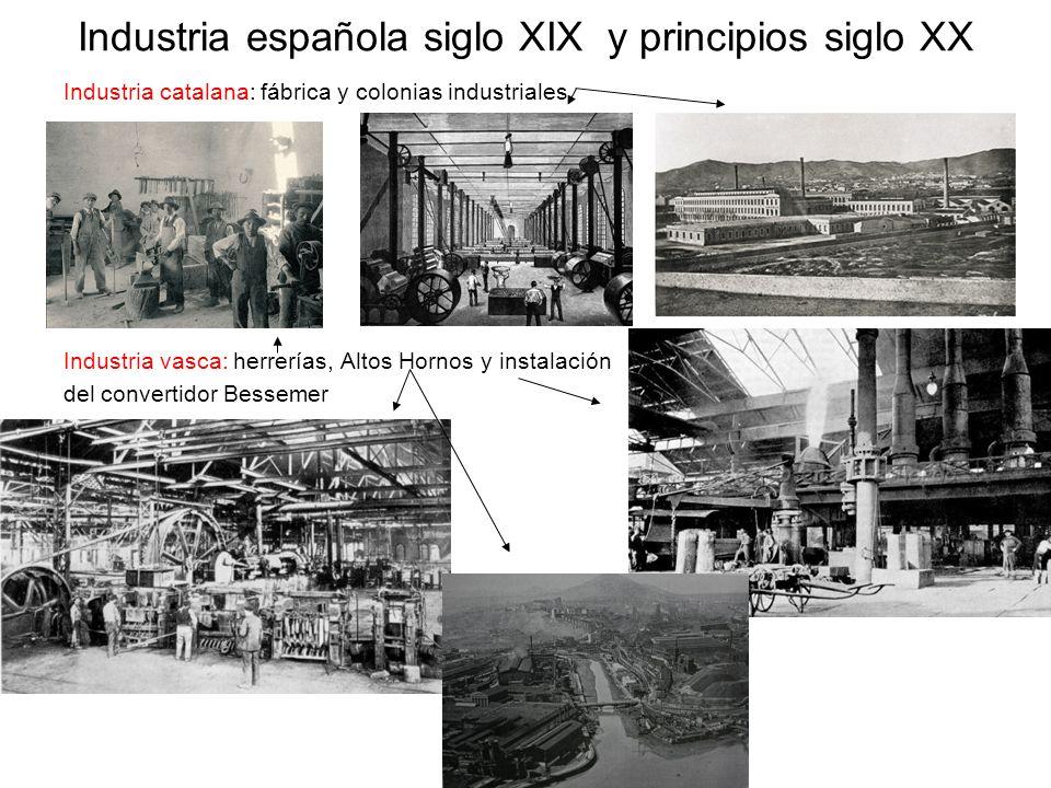 Industria española siglo XIX y principios siglo XX