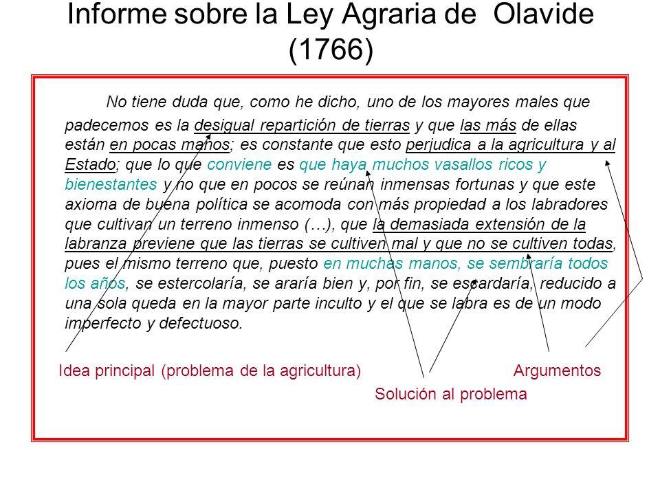Informe sobre la Ley Agraria de Olavide (1766)