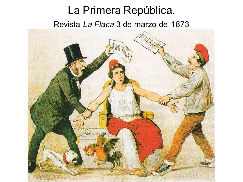 La Primera República. Revista La Flaca 3 de marzo de 1873