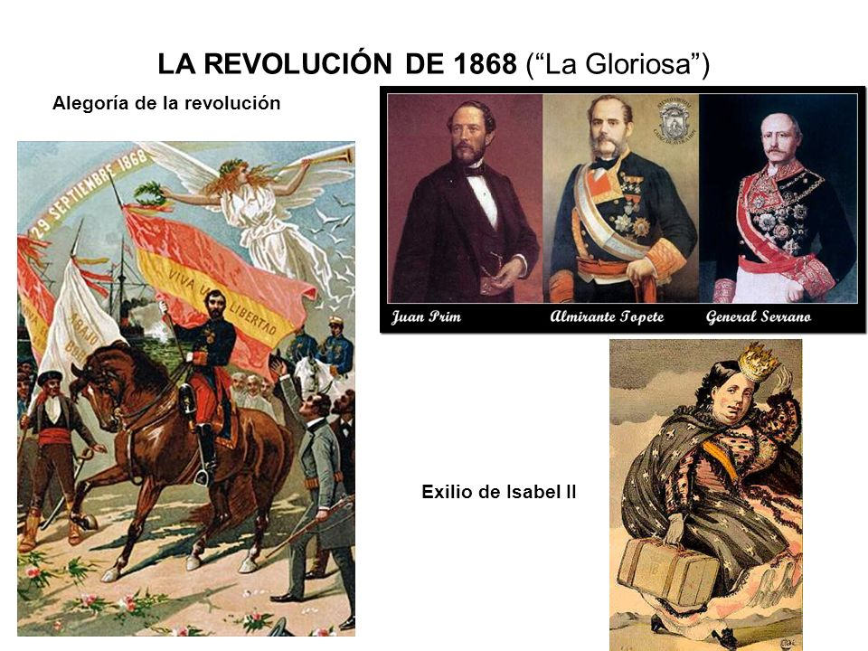 LA REVOLUCIÓN DE 1868 ( La Gloriosa )