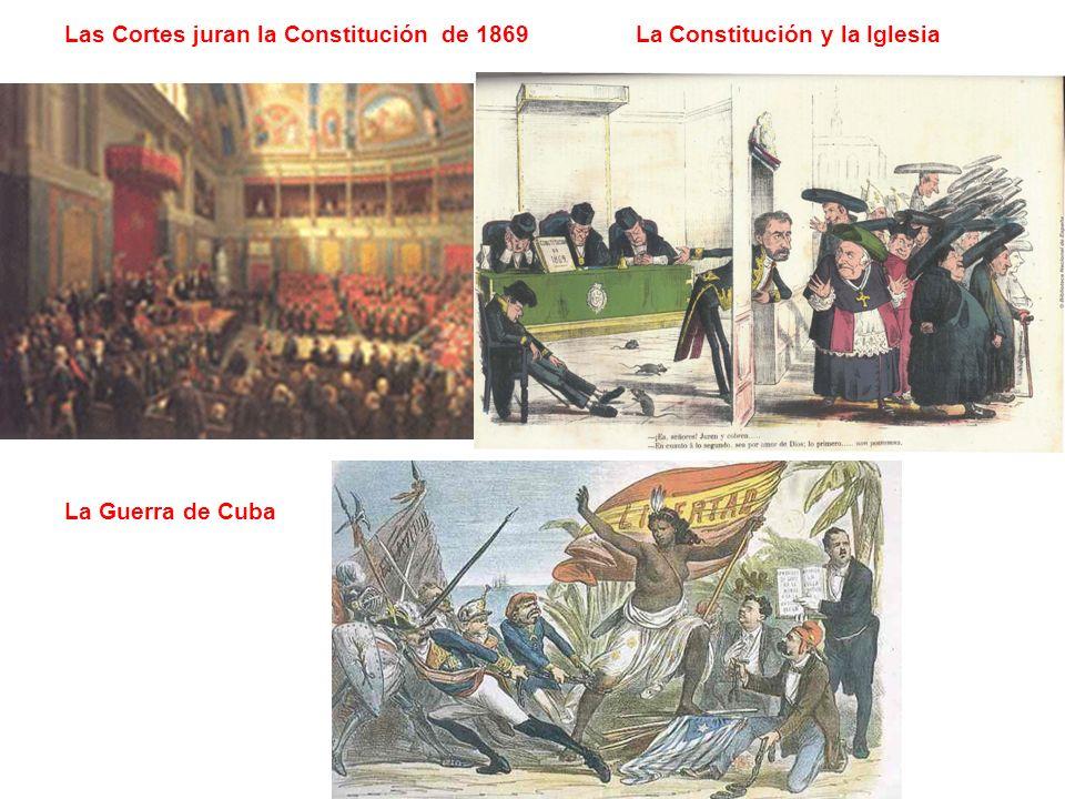 Las Cortes juran la Constitución de 1869 La Constitución y la Iglesia