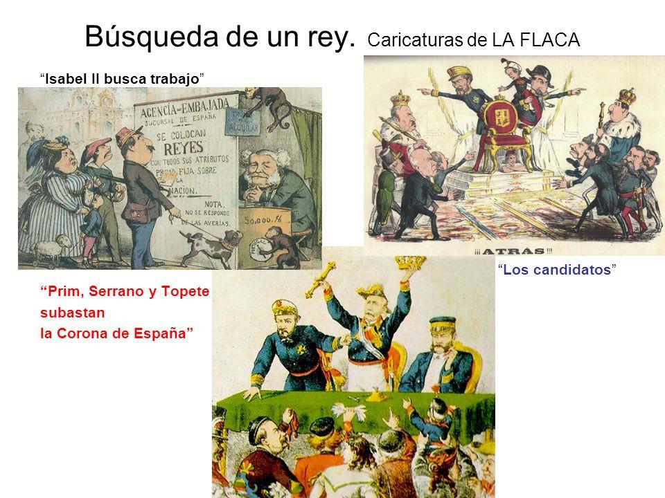 Búsqueda de un rey. Caricaturas de LA FLACA