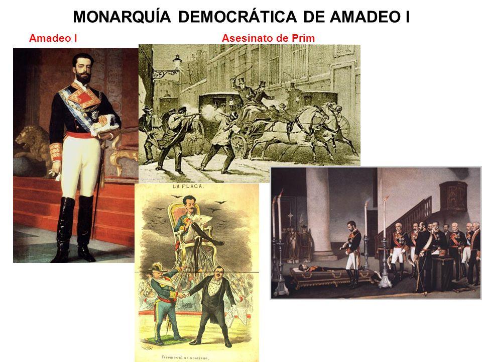 MONARQUÍA DEMOCRÁTICA DE AMADEO I