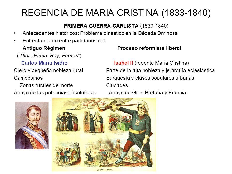 REGENCIA DE MARIA CRISTINA (1833-1840)