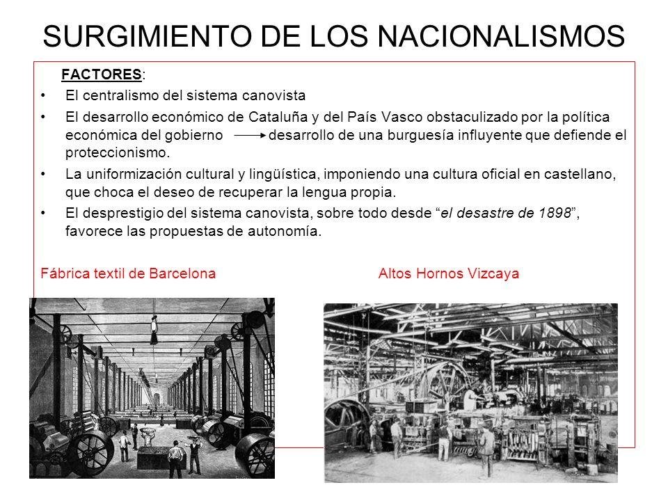 SURGIMIENTO DE LOS NACIONALISMOS