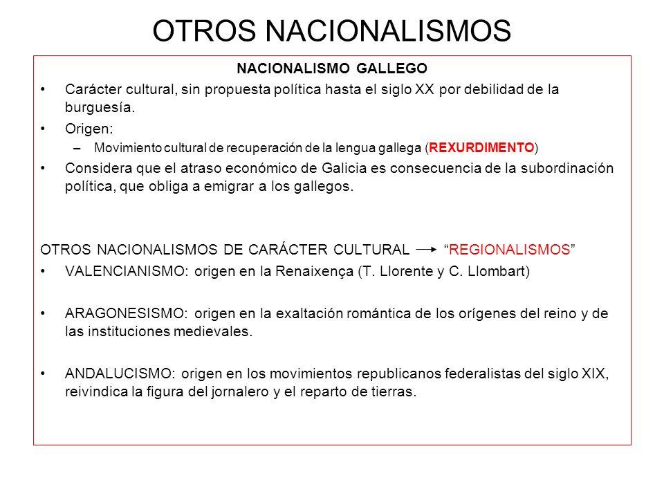 OTROS NACIONALISMOS NACIONALISMO GALLEGO